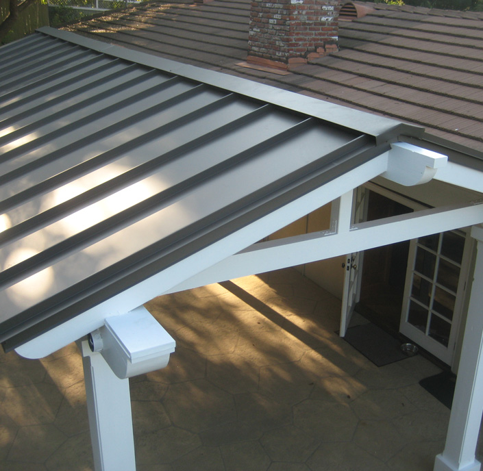 Pergola Standing Seam Metal Roof - Joel's Roofing & Rain Gutter Co. Inc. Roofing Products